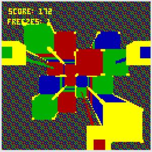 3-handed laser shuffle screenshot